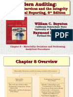 Chapter 8 Materiality Decisions and Performing Analytical Procedures