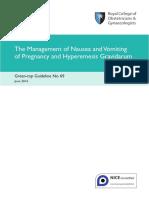 Nausea and Vomiting of Pregnancy and Hyperemesis Gravidarum