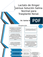 Lactato Ringer vs Solucion Salina en Trasplante Renal