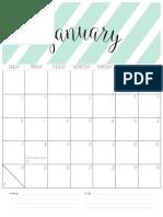 Calendar Blog 2016