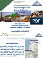 04 - Recursos Geologicos de Fe CAP Mineria - M Rojo - CAP