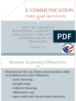 Peace Corps SA OSS Training   Effective Communication With Victims and Survivors