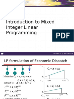 Mixed Integer Linear Programming