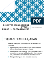 Disaster Management Cycle – PhaseII Preparedness