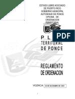 Reglamento de Ordenacion de Ponce