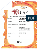 Ta - Metodos Estadisticos Para La Investigacion - Pool Perez Peña