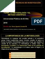 3. La Metodología y El Método Científico