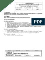 PR-CL-03 Selec Eval y Reeval Proveedores Transporte Terrestre Rev 00 CNC