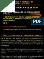 7. Desarrollo de La Perspectiva Teórica, Revisión de La Literatura y Marco Teórico