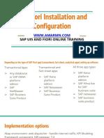 SAP Fiori Installaion and Configuration