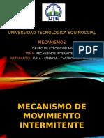 mecanismos de movimiento intermitente