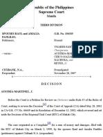 Spouses Panlilio v Citibank G.R. No. 156335
