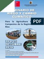 Afiche y Programa Seminario Riego y Cambio Climático (1)