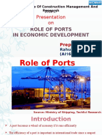 Role of Ports in Economic Development