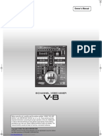 Roland V-8 Mixer Manual