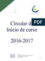Circular Inicio de Curso 2016 2017 Version ES