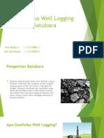 Geofisika Well Logging Batubara