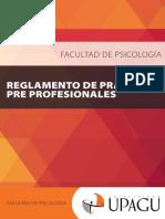 Reglamento de Prácticas Pre Profesionales