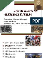 Las Unificaciones de Alemania e Italia