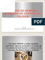 Analisis de Mermas y Rechazos de Control de Calidad