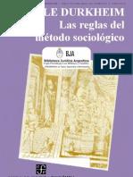 Emile Durkheim - La Sociología Y Las Reglas Del Método Sociológico