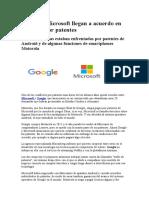Conflicto Google Microsoft