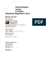 Technical Report Mineral Resources Bongará Zinc Project Amazonas Department