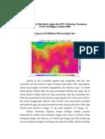 Analisis Pola Distribusi Angin Dan SPL Terhadap Fenomena ENSO Di Filipina Tahun 2000