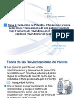 Redacción de Patentes. Introducción y teoría sobre las reivindicaciones de una patente