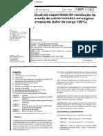 NBR 11301 - Cálculo Da Capacidade de Condução de Corrente de Cabos Isolados Em Regime Permanente