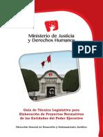 Guia Tecnica Legislativa Para Elaborar Normas Del PE - MJ, 56p