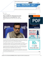 Place of Effective Management Rules Deferred for Accounting Ease_ Govt _ VCCircle