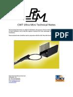 CWTUM - Technical Notes - 001
