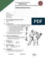 Formulir Pendaftaran Karate Pdf