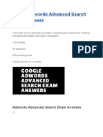 Google Adwords Advanced Search Exam Answers