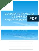Elabora Tu Proyecto de Empresa