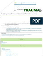 Closed Management and Percutaneous Fixation of Unstable Proximal Humerus Fractures