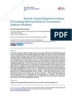 Intensive Lifestyle Counselling Intervention - Preventing Maternal Risk Dor Gestational