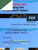 Installment sales