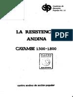 Resistencia de Cayambe