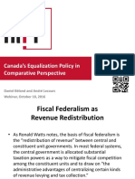 Canada's Equalization Policy in Comparative Perspective