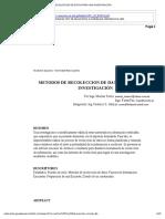 Metodos de Recoleccion de Datos Para Una Investigacion