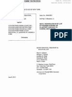 Reply Memorandum of Law Support of Plaintiff's Motion to Compel Disclosure - MBIA vs Country Wide on Docket June 8 2010
