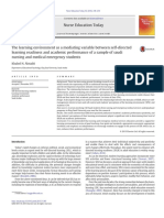 The Learning Environment as a Mediating Variable Between Self-directed Learning Readiness
