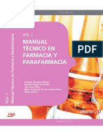 Manual Tecnico de Farmacia y Parafarmacia. Vol. 1