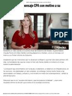 16-10-16 Ofrece mensaje CPA con motivo a su Primer Informe. - Frontera.Info