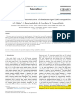 _synthesis and Optical Characterization of Aluminum Doped ZnO Nanoparticles