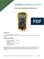 2.2.4.4 Práctica de Laboratorio Uso de Multímetros y Verificadores de Suministro de Energía