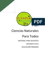 Plan Ciencias Naturales Para Todos Material Para Docentes Segundo Ciclo Educación Primaria