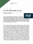 ATIENZA, Manuel. on the Reasonable in Law